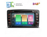 Double din навигация за Mercedes W203 W209 W463 с Android 6.0 PB76M203AP, GPS, WiFi, 7 инча