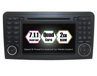 Вградена навигация за Mercedes W164 с Android 7.1 BZ0705 , GPS, DVD, 7 инча